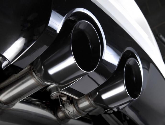 Klapkový catback výfuk VW Golf 6 R 2.0 TSI Milltek Sport - bez rezonátoru s leštěnými koncovkami