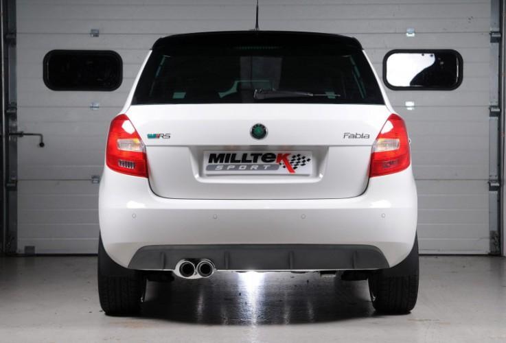 Catback výfuk Škoda Fabia 2 RS 1.4 TSI Milltek Sport - bez rezonátoru / leštěné koncovky