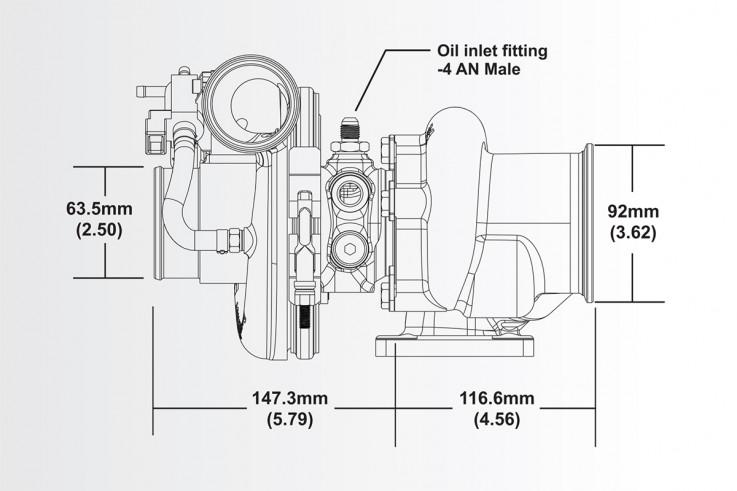 Turbodmychadlo BorgWarner EFR 6758 AL T25 SingleScroll 0.85 s WG