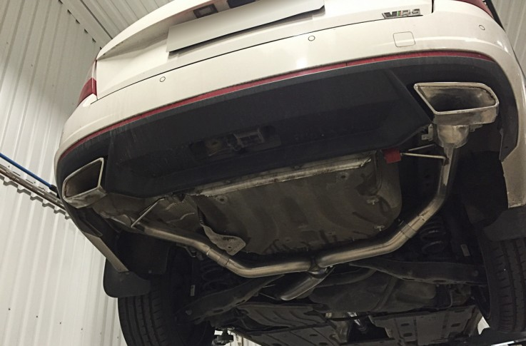 Catback výfuk Škoda Octavia III RS 2,0 TDI Milltek Sport - bez rezonátoru