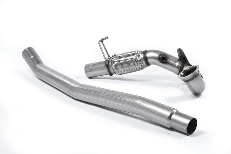 1. díl výfuku AUDI S3 2.0 TFSI quattro Downpipe Milltek Sport - bez katalyzátoru