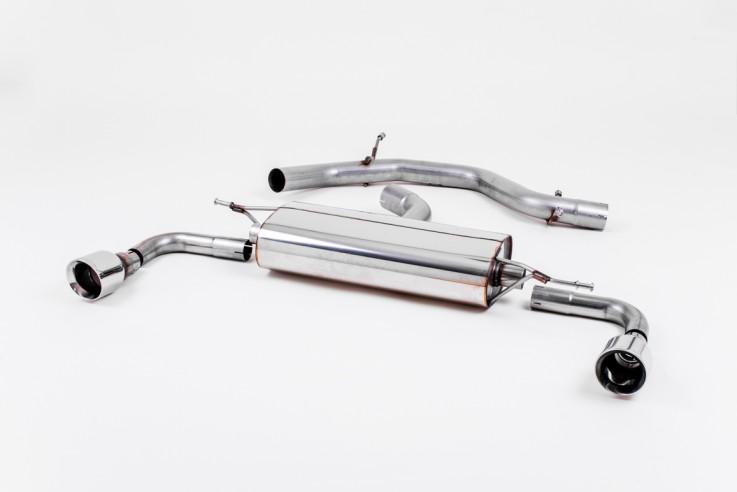 Catback výfuk VW Golf 6 GTI 2,0 TSI 210PS Milltek Sport - bez rezonátoru / koncovky 90mm Dual Jet