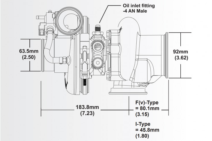 Turbodmychadlo BorgWarner EFR 6258 AL V-Band SingleScroll 0.85 s WG