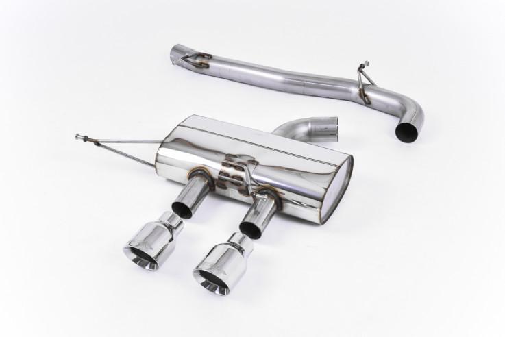 Catback výfuk Race System VW Golf 6 R 2.0 TFSI Milltek Sport - bez rezonátoru / leštěné koncovky