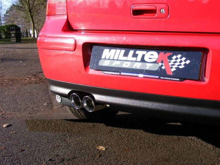 Catback výfuk VW Golf 4 GTI 1,8T Milltek Sport - bez rezonátoru / leštěné koncovky