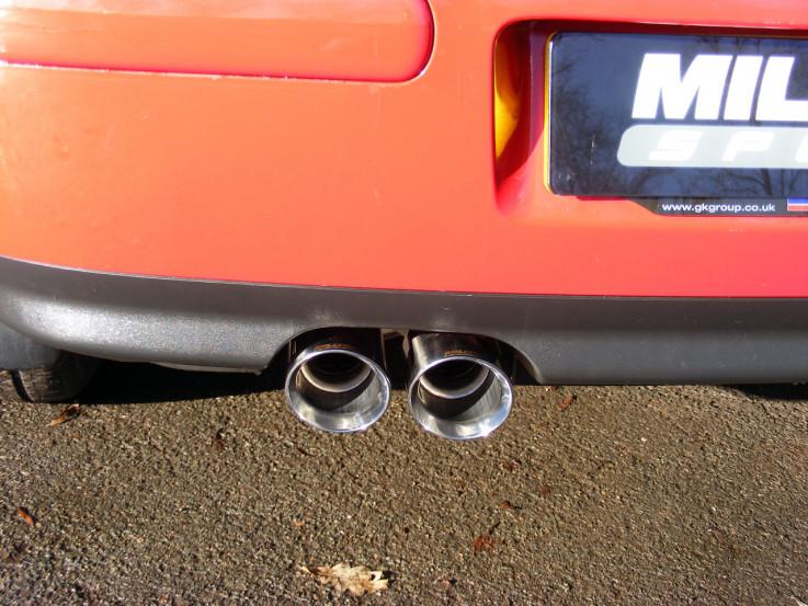 Catback výfuk VW Golf 4 1,9TDI Milltek Sport - bez rezonátoru / leštěné koncovky