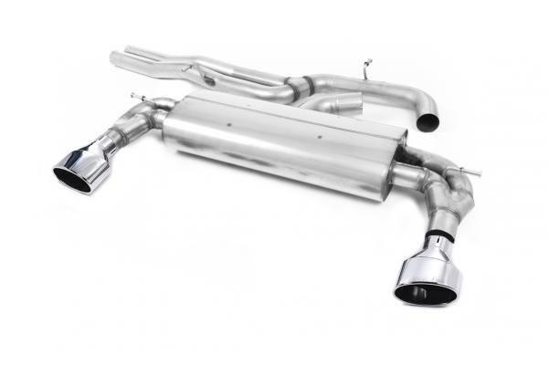 Catback výfuk AUDI RS3 8V Sportback 2,5 TFSI Milltek Sport - bez rezonátoru / leštěné koncovky