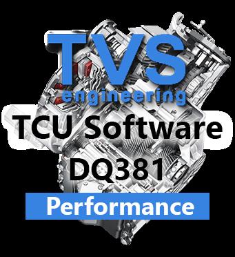 TVS Engineering Stage 2+ software řídící jednotky převodovky DQ380 DQ381