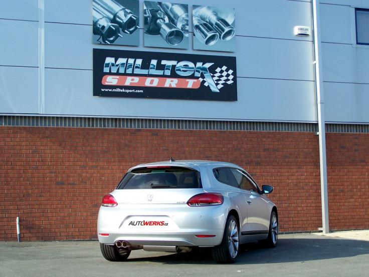 Catback výfuk VW Scirocco GT 2.0 TDI Milltek Sport - bez rezonátoru / leštěné koncovky