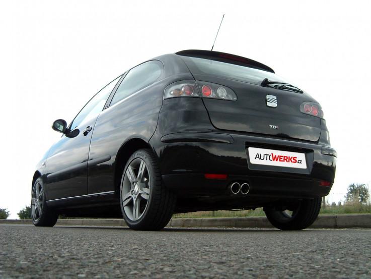 Catback výfuk SEAT Ibiza 6L 1.9 TDI Milltek Sport - bez rezonátoru / leštěná dvojitá koncovka