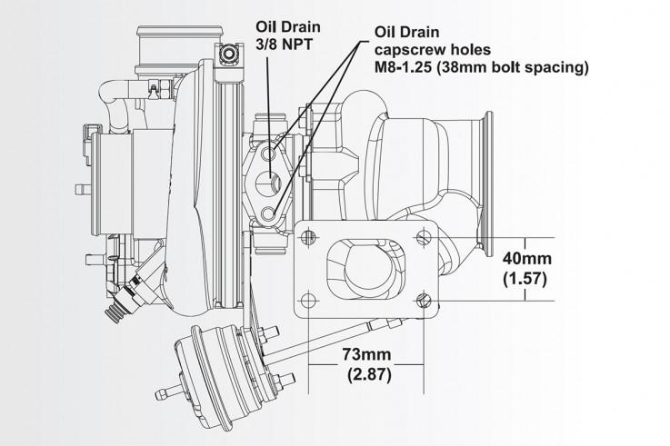 Turbodmychadlo BorgWarner EFR 6758 T25 SingleScroll 0.64 s WG