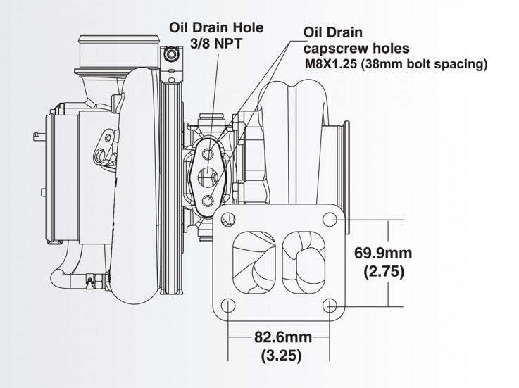 Turbodmychadlo BorgWarner EFR 9274 AL T4 TwinScroll 1.45 bez WG
