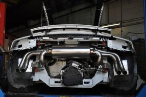 Catback výfuk AUDI R8 V10 5.2 FSI Milltek Sport - Race verze