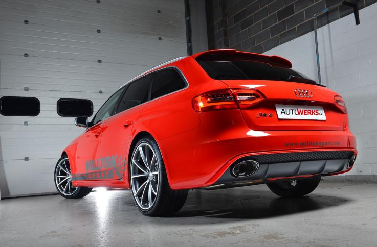 Klapkový catback výfuk AUDI RS4 B8 Avant 4.2 FSI Milltek Sport - bez rezonátoru