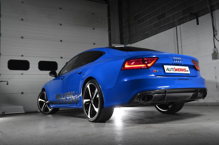 Klapkový catback výfuk AUDI RS6 a RS7 C7 4.0 TFSI V8 Milltek Sport - bez rezonátoru