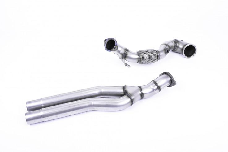 1. díl výfuku AUDI TT RS 8S 2.5 TFSI Downpipe  Milltek Sport - bez katalyzátoru
