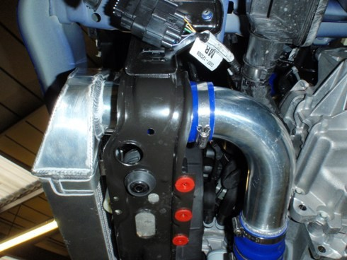 Intercooler kit Ford Focus ST250 2,0T Ecoboost FMINTST250 PiperCross Forge Motorsport - Modrá
