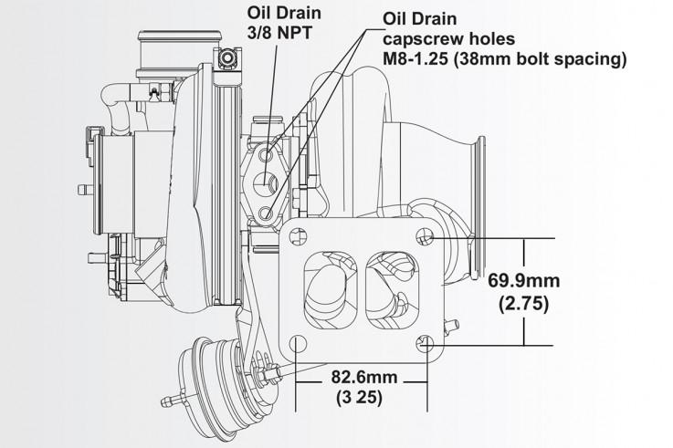 Turbodmychadlo BorgWarner EFR 6258 AL T4 TwinScroll 0.80 s WG