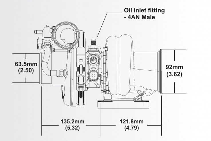 Turbodmychadlo BorgWarner EFR 6758 T4 TwinScroll 0.80 s WG