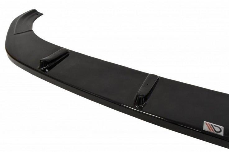 Maxton Design Spoiler předního nárazníku VW Golf Mk7 R V.1 - černý lesklý lak