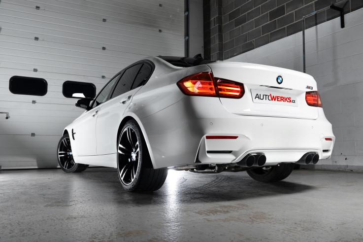 Klapkový catback výfuk BMW M3 (F80) / M4 (F82 / F83) Milltek Sport - s rezonátorem / leštěné koncovky