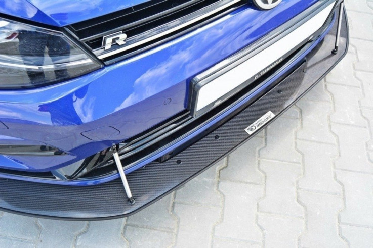 Maxton Design Spoiler předního nárazníku Racing VW Golf Mk7 R Facelift V.2