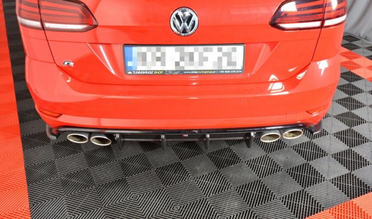 Maxton Design Spoiler zadního nárazníku VW Golf Mk7 R Facelift Combi - texturovaný plast