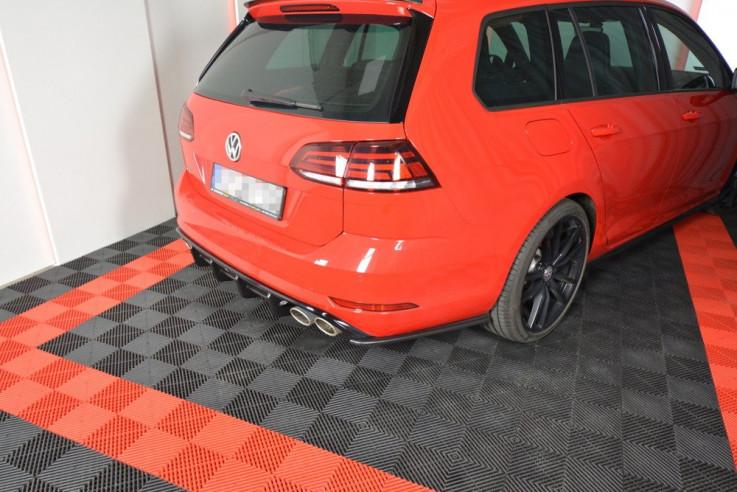 Maxton Design Boční lišty zadního nárazníku VW Golf Mk7 R Facelift Combi V.1 - texturovaný plast