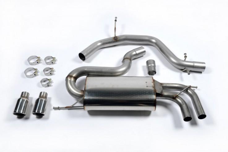 Catback výfuk VW Golf V GTI 2.0 TFSI Milltek Sport - bez rezonátoru / leštěné koncovky