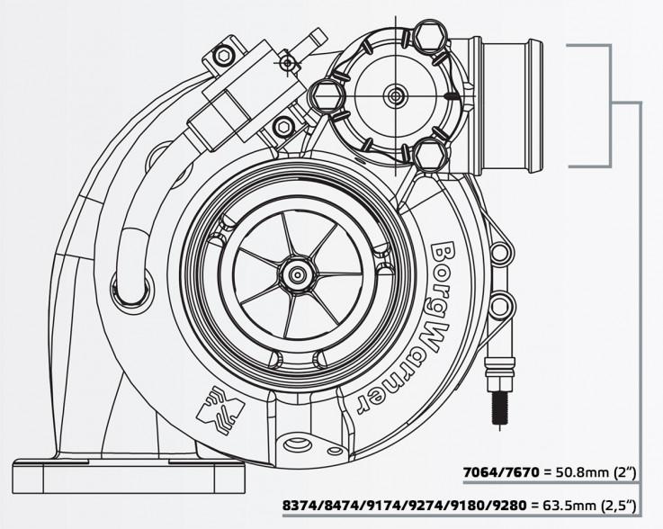 Turbodmychadlo BorgWarner EFR 8474 AL T4 TwinScroll 1.05 bez WG