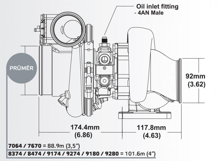 Turbodmychadlo BorgWarner EFR 9274 AL T3 SingleScroll 0.83 s WG