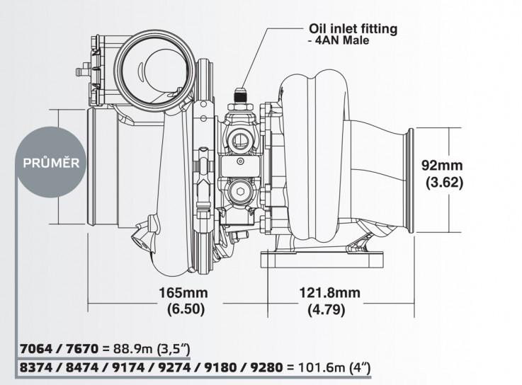 Turbodmychadlo BorgWarner EFR 9280 AL T4 TwinScroll 0.92 s WG