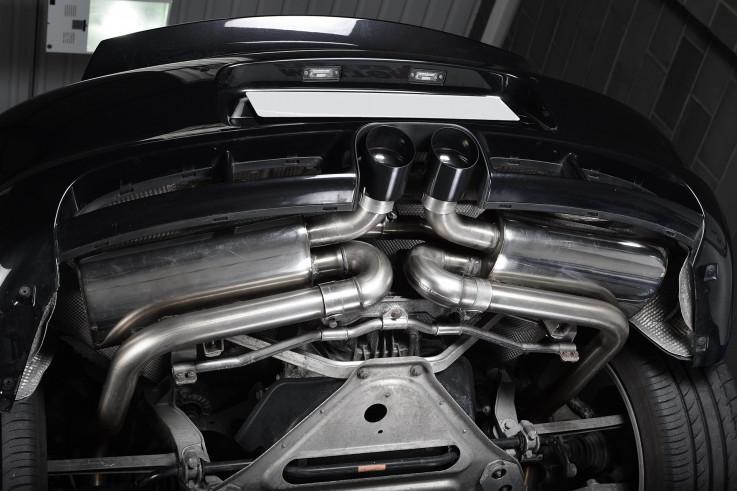 Catback výfuk Porsche Boxster S & Cayman S (987 Gen2) Milltek Sport - bez rezonátorů / leštěné koncovky
