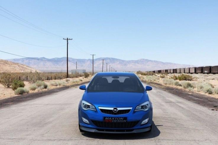 Maxton Design Spoiler předního nárazníku Opel Astra J - texturovaný plast