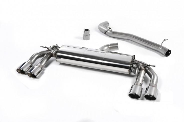 Catback výfuk AUDI TTS 8S 2.0 TFSI Milltek Sport - bez rezonátoru / leštěné koncovky