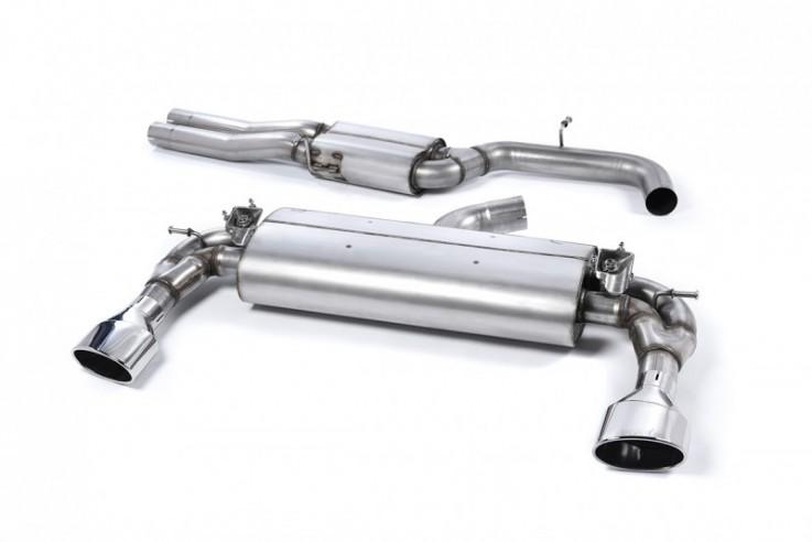 Klapkový Catback výfuk AUDI RS3 8V Sportback 2,5 TFSI Milltek Sport - bez rezonátoru / leštěné koncovky
