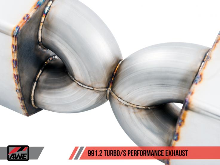 AWE Tuning Sportovní výfukový systém pro Porsche 911 991.2 Turbo & Turbo S 3.8T - pro sériové koncovky