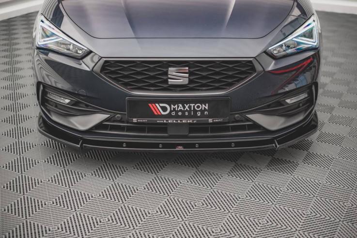 Maxton Design Spoiler předního nárazníku Seat Leon FR Mk4 V.1 - texturovaný plast